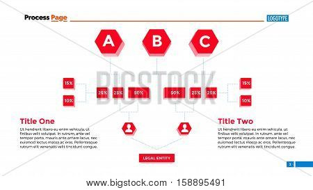 Flowchart slide template. Business data. Graph, diagram, design. Creative concept for infographic, templates, presentation, marketing. Can be used for topics like recruitment, training, planning.