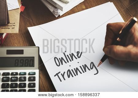 Online Training Education E-Learning Networking Globalization Concept