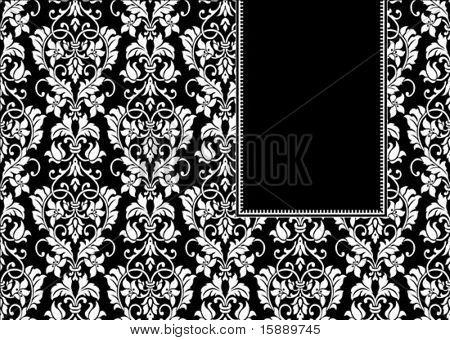 Vector floral Frame. einfach zu skalieren und zu bearbeiten. Muster ist als nahtlose Muster enthalten