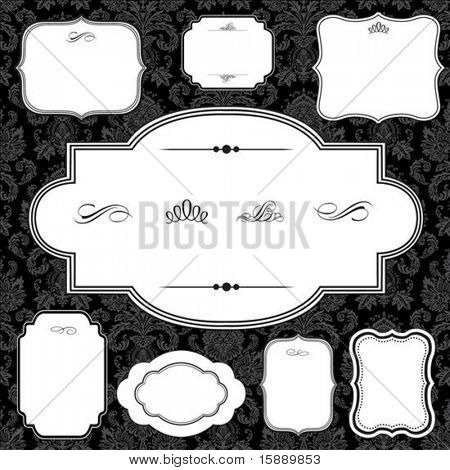 Vector frame set. Easy to scale and edit. All pieces are separated.