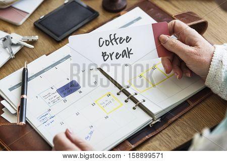 Coffee Break Leisure Resting Relaxation Cessation Concept