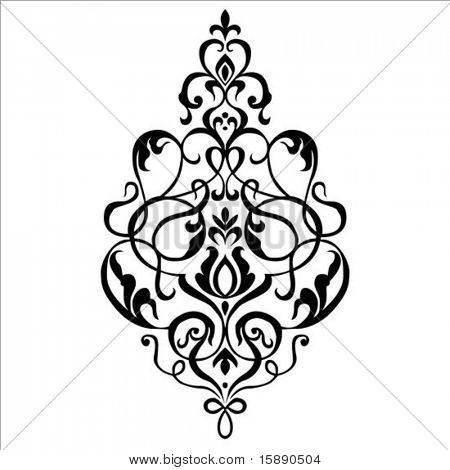 Vector ornament. Pieces are separate and easy to edit.