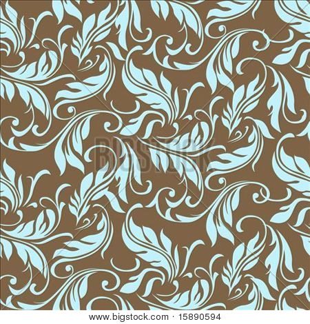 Vector floral ivy pattern. Perfect for invitations and ornate backgrounds.  Pattern is included as seamless swatch.