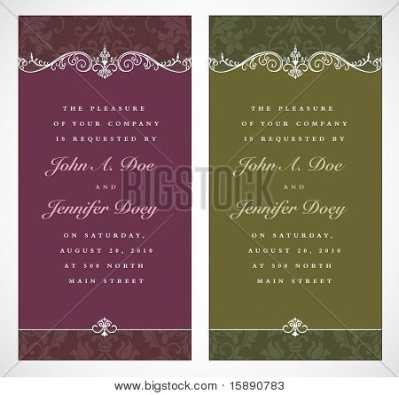Vector Ornate Wedding Frame Set