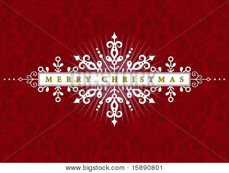 Vector Christmas Ornamental Frame