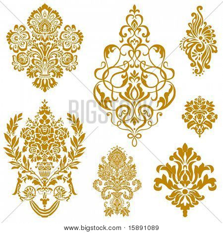 Set of ornate vector ornaments. Perfect for invitations or announcements.