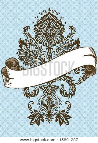 Vector ornate scroll frame. Easy to edit. Perfect for invitations or announcements.