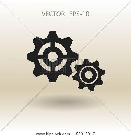 Gears icon. vector illustration