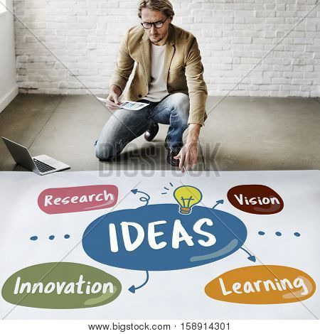 Ideas Vision Research Innovation Concept