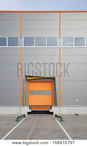One Cargo Door at Warehouse Loading Bay