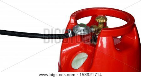 black hose suitable for gas equipment on a white background
