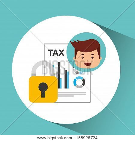 business man secure money tax megaphone vector illustration eps 10