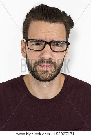 Man Adult Sad Frowning Concept