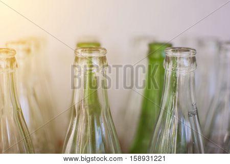Bottle of sparkling water bottle. Bottle white