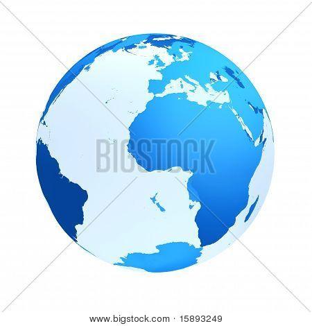 Transparent The Globe Blue Color