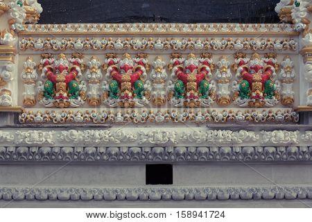 Beautiful Garuda wall at Temple in Thailand