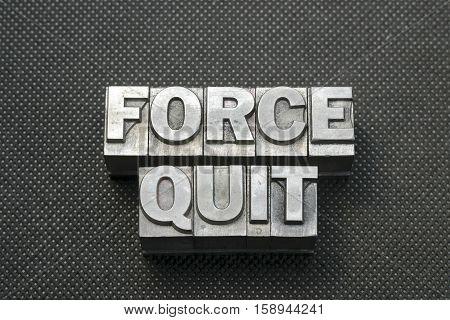 Force Quit Bm