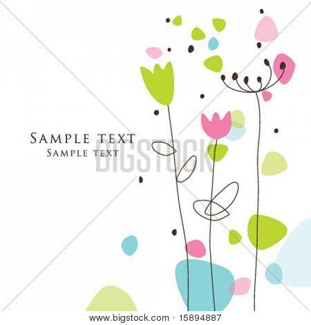 floral Grußkarte mit textfreiraum