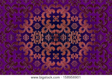 abstract seamless background vintage embossed openwork pattern on a burgundy in Victorian style