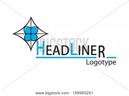 Round road interchange abstract icon with highway