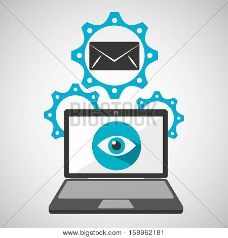 computer security email social network concept vector illustration eps 10