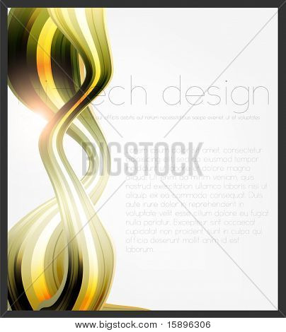 Eps10. Fresh design idea with shining element to attract attention to your message. Fully editable.