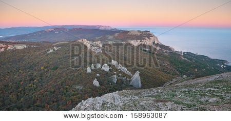 Mountain panorama landscape. Composition of nature.