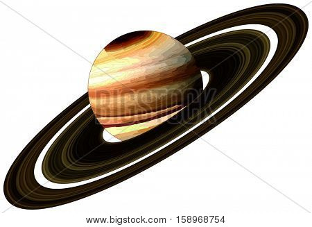 Vector Saturn Planet