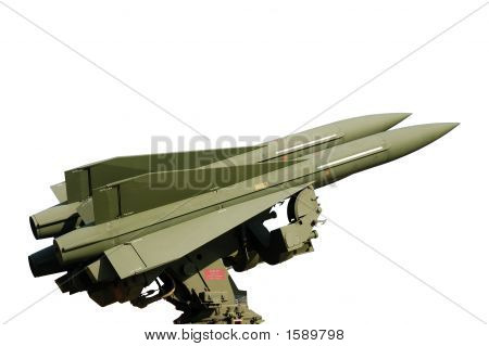 Missile Isolated On White