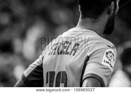 VALENCIA, SPAIN - NOVEMBER 20th: Carcela during La Liga soccer match between Valencia CF and Granada CF at Mestalla Stadium on November 20, 2016 in Valencia, Spain