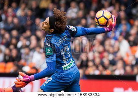 VALENCIA, SPAIN - NOVEMBER 20th: Ochoa during La Liga soccer match between Valencia CF and Granada CF at Mestalla Stadium on November 20, 2016 in Valencia, Spain