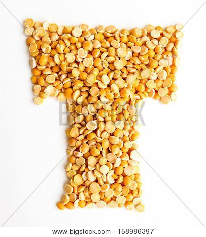 The peas Initials letter T.