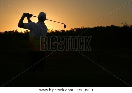 Silhueta de golfe