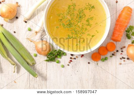 broth with ingredient