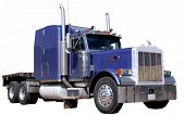 image of peterbilt  - Big purple semi truck on isolated background - JPG