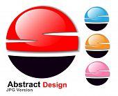 Постер, плакат: JPEG версии Абстрактный символ 3d глянцевая сфере вектор Вектор версии в моем портфолио