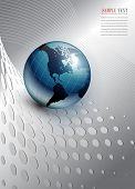 picture of world-globe  - abstract business background - JPG