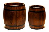 Old Whisky Barrel Wood Containers