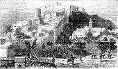 foto of algiers  - Algiers town vintage engraving - JPG