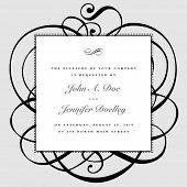 stock photo of wedding invitation  - Vector ornate frame and ornaments - JPG