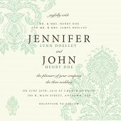 foto of wedding invitation  - Vector ornate damask background - JPG