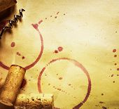 foto of red wine  - Wine Cork - JPG