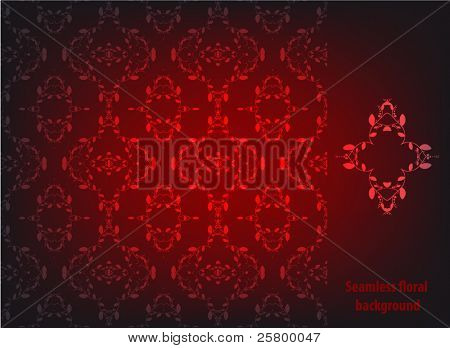 Seamless floral wallpaper pattern. EPS 10 vector  illustration
