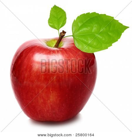 red Apple isoliert