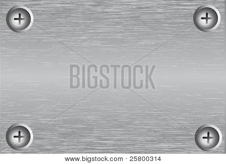 Silver vector background and screws.