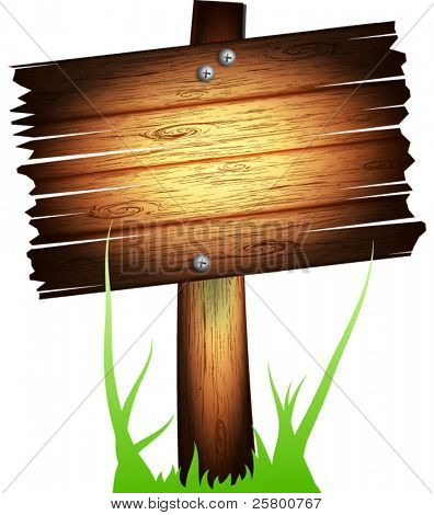 Vector old wooden board