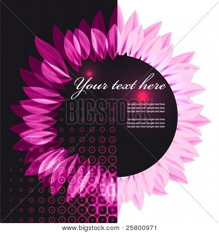 Abstract vector flower background.