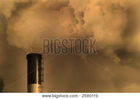 Planeta humo de carbón
