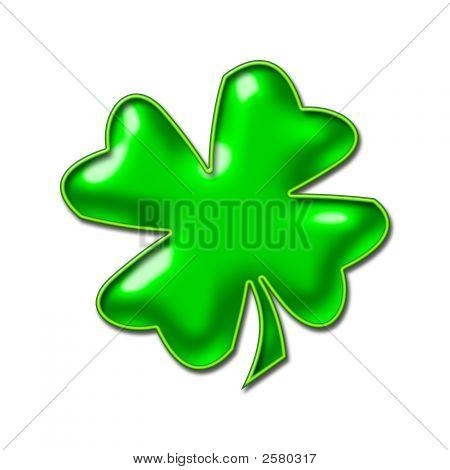 Neon Green Shamrock Image