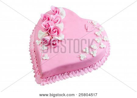 Pink Cake Heart